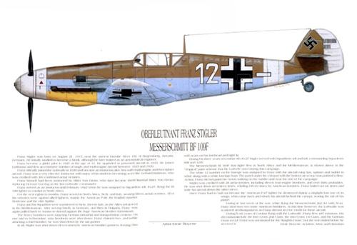 Messerschmitt Bf-109 Ace, Franz Stigler – Aviation Art Store