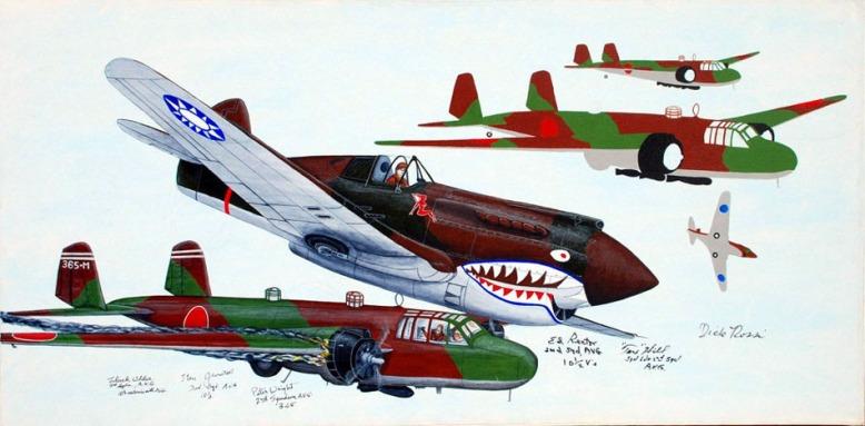 painting_P-40_AVG_Combat